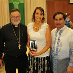 Ann Wilson received the parish Patron's Day award for her outstanding service to the Sacred Heart community.