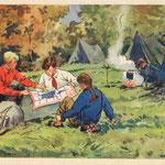Туристы. Худ. П. Оссовский 1955
