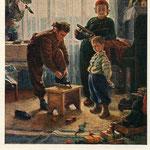 Зима пришла. Худ.В.К.Жолток 1955