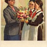 Любимой учительнице. Худ. А.Годов 1955