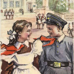 После экзамена. худ. Л. Острова 1956