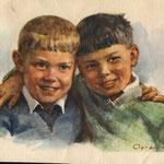 Приятели. Худ. С.Низовая 1955