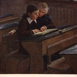 После уроков. Худ. Д.И. Пускин 1955