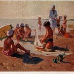 На пляже. О. Богаевская (1954)