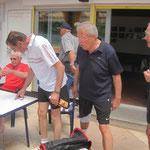 Herren 60 Vorbereitung für das Spiel in Herbertingen,    5:4 gewonnen