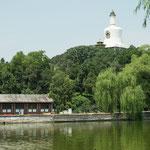 ....hier der traumhafte Belhai Park mit Tempel aus der Kaiserzeit.....