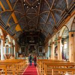 Die Holzkirchen der Jesuiten sind innen eine wahre Pracht....