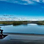 ... dies ist eine größere Durchfahrt - keine See sondern auch ein Fluss...