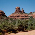 Sedona ist berühmt für seine roten Felsformationen