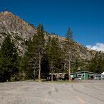 Unser Schlafplatz in Squaw Valley - einen riesigen Platz für uns allein
