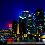 ....Blick bei Nacht vom Bund auf Pudong