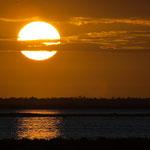 ....neben den Flamingos sind die Sonnenuntergänge berühmt hier.