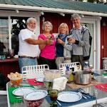 """Terry & Phyl haben uns zum """"crab - Essen"""" eingeladen - verzüglich"""