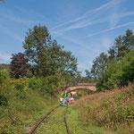 ...eine alte Eisenbahnlinie wird heute touristisch genutzt...