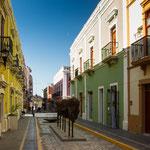 Die Strassen von Campeche sind sehr liebevoll restauriert....