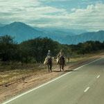 Pferde als Transportmittel sieht man hier häufig...
