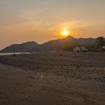 Wir hatten einen tollen Übernachtungsplatz direkt am Strand......