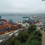 Valparaiso war bis vor kurzem der größte Hafen Chiles...