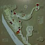 """Die Karte der heutigen Ausgrabungsstätte von """"Yaxchilan"""""""