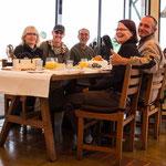 Unser Frühstück mit Franziska, Felix und Enrique an einem Mirador über Antigua