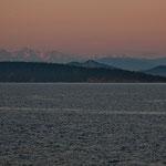 """der immer schneebedeckte """"Mount Baker"""" im Hintergrund"""