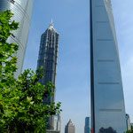 "....rechts das ""Shanghai World Financial Center 492 m hoch...."