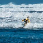 ...an manchen Tagen sind die Wellen viele Meter hoch...