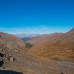 auf über 2000 m gibt es keine Bäume und kaum noch Vegetation...