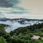 """....das Panorama über den """"Los Quetzales Nationalpark....."""