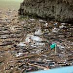 Leider gibt es auch in diesem Stausee sehr viel Müll