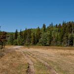 "Unser Stellplatz am ""Swiftcurrent Creek"" bei den ""Balckfeet Indianern"""