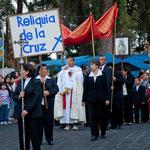 """...diese Prozession ist zu Ehren der Reliquie """"de la Cruz"""""""