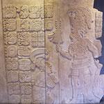 Im Museum wurden die tollen Steinmetzarbeiten der Mayas ausgestellt....