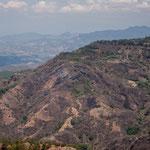 .....die Bergkette Richtung Honduras.....
