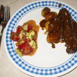 .....und hier das fertige Gericht: mexikanische Rouladen - diesmal etwas anders
