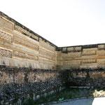 Auffallend in Mitla sind geometrischen Formen - einmalig in Mexico