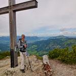 Gipfelkreuz des Berg Iseler
