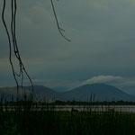 Der Laguna Ototonilco ist im Winter ziemlich ausgetrocknet.....