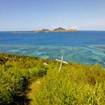 Blick auf die vorgelagerten Korallenriffe