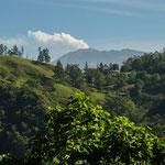Auch auf dieser Tour begleitete mich der Vulkan Turrialba ein großes Stück....