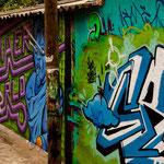 Und immer wieder in Mexico: tolle Wandmalereien