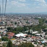 Die Stadt Durango vom Aussichtsberg....