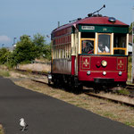 "alte ""tram"" in Astoria entlang des Columbia Rivers"