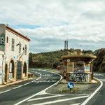Hier die ehemalige Grenzstation zu Spanien.