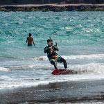 ...teilweise gings auch auf Sand weiter - der Wind war stark genug...