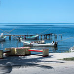 ....unsere erste Berührung mit dem Golf von Mexico in Champoton....