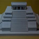 Ein Modell eines der vielen Tempel....
