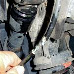 ....aus Frust wurde das ABS - Kabel durch trennt.....