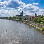 Magdeburg liegt wunderschön an der Elbe...