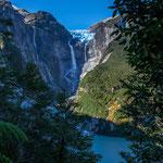 """...Blick auf den """"hängenden Gletscher..."""
